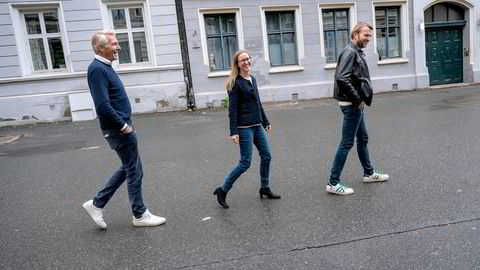 Askeladden & Co skal starte en advokattjeneste sammen med tidligere Wiersholm-topp Nils Thommesen (t.v.). Her sammen med Cathrine Bach og Karl-Axel Hjorth Bauer.