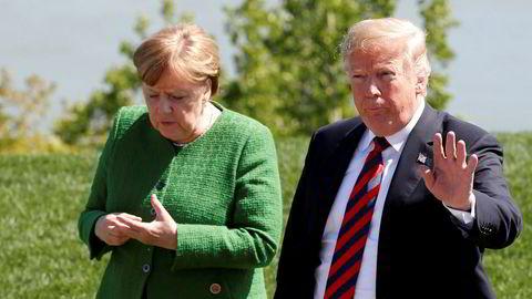 USAs president Donald Trump langer nok en gang ut mot sine allierte, denne gangen mot Tyskland og forbundskansler Angela Merkel.