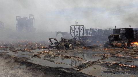 Equinor fikk en bot på mer enn 200.000 dollar etter brannen i Ohio, som forårsaket mye skade i nærområdet.