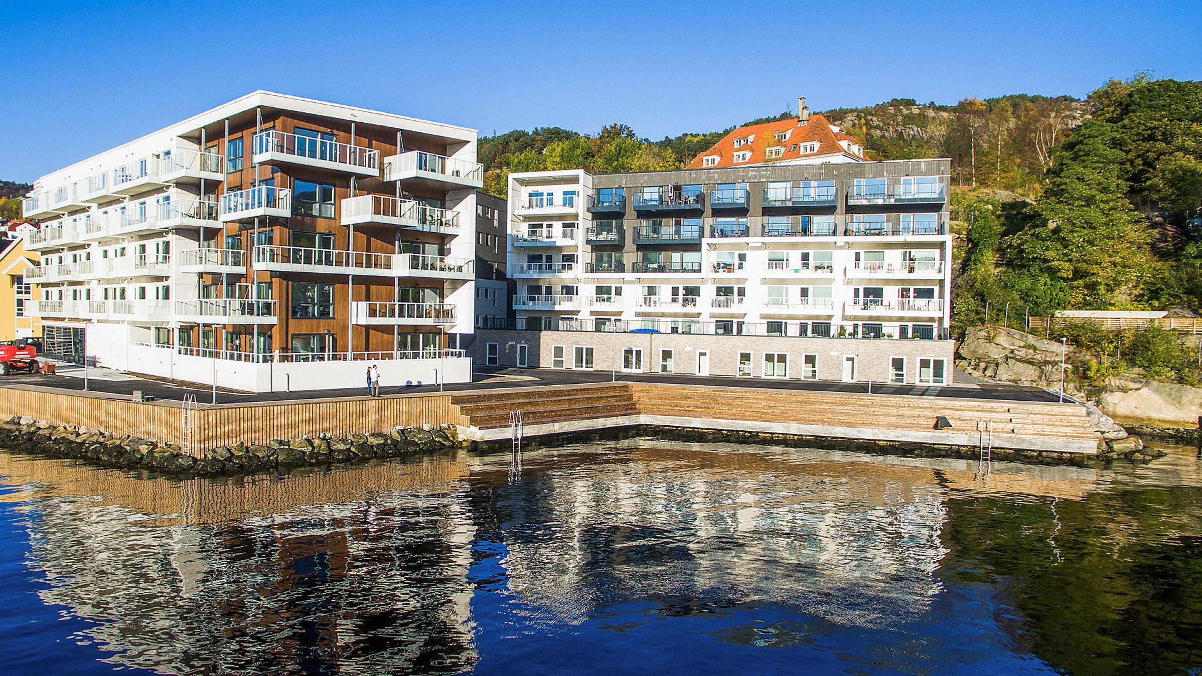 Boligprosjektet Nyhavn Brygge i Bergen, bygget av Selvaag Bolig.