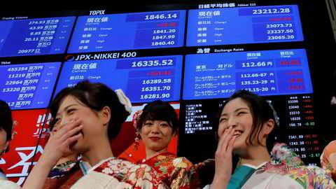 Nøkkelindeksen ved Tokyo-børsen er på det høyeste nivået siden 1991. Børsen åpnet 2018 med tradisjonell feiring på torsdag morgen.