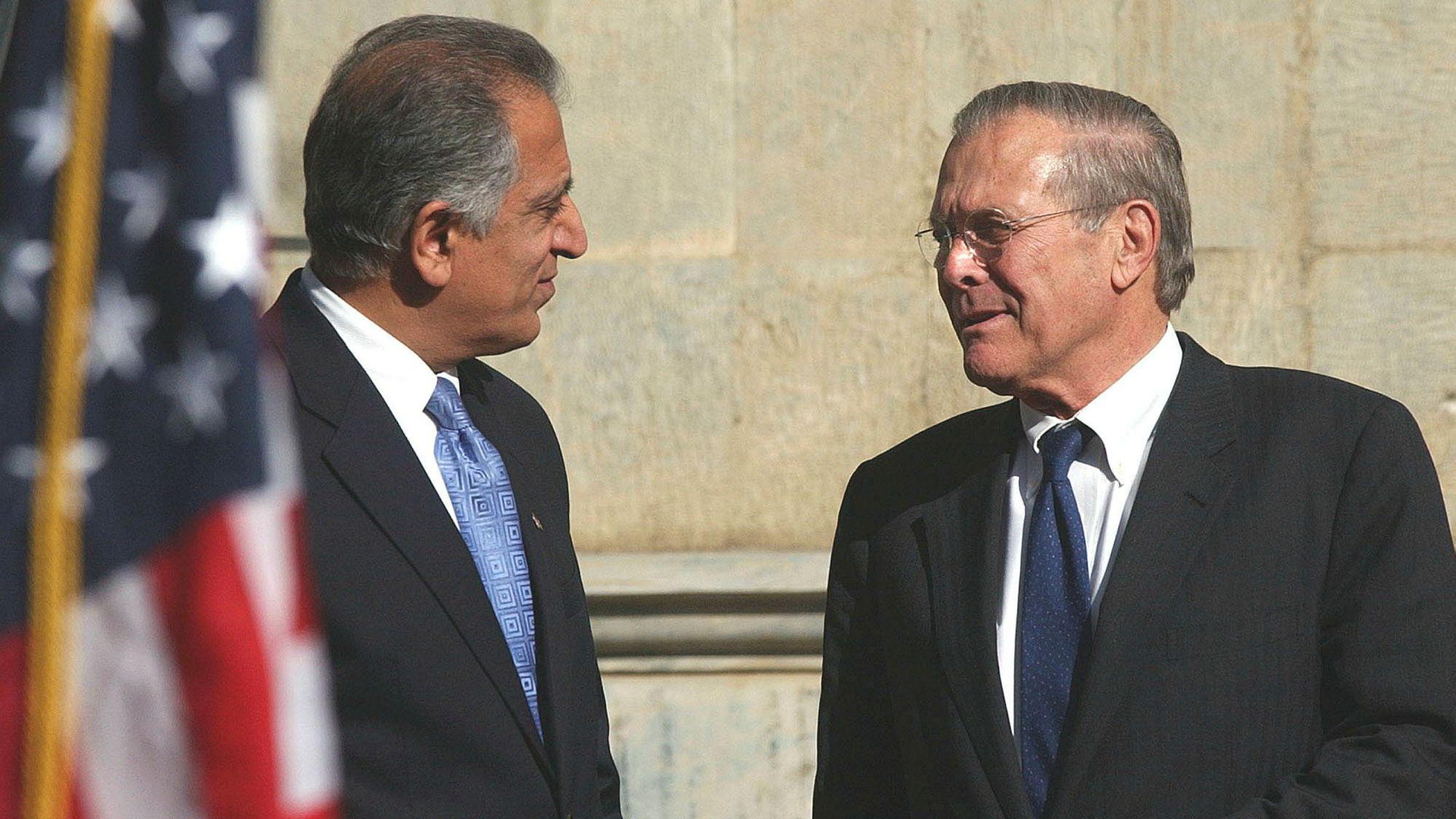 USAs tidligere ambassadør til Afghanistan og Irak Zalmay Khalilzad sitter nå i styret i DNO-hovedeier Rak Petroleum.