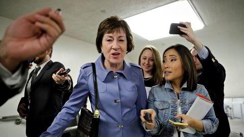Den republikanske senatoren Susan Collins lar seg ikke skremme av Donald Trump, og fortsetter.