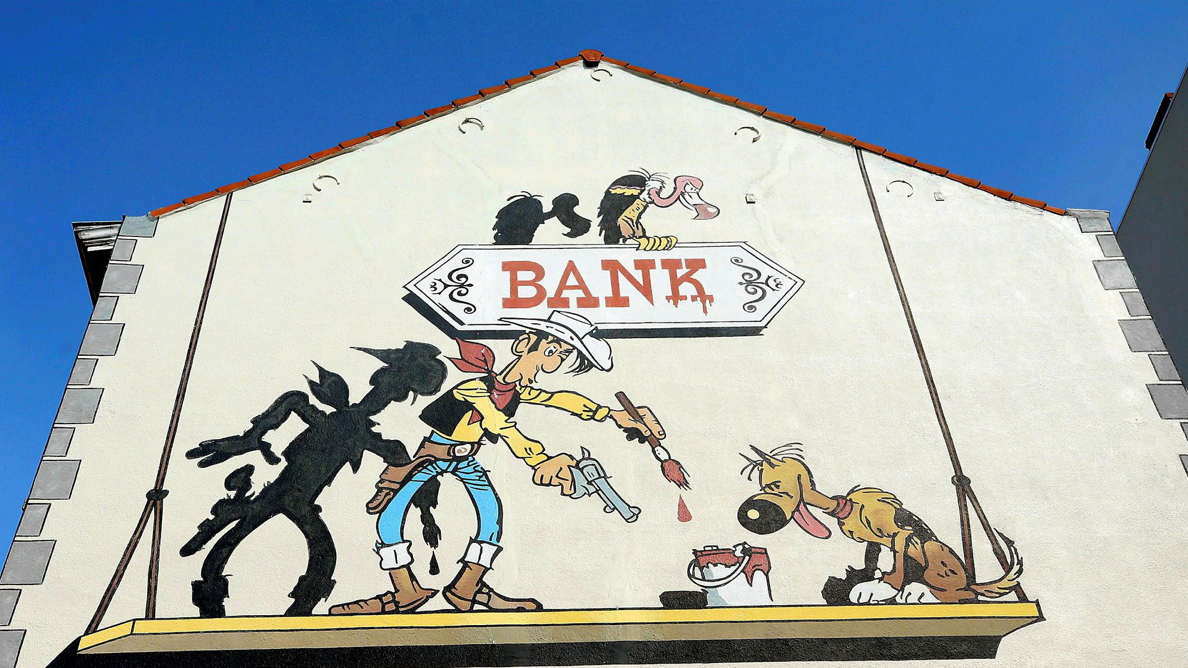 Lucky Luke, her på en vegg i Brussel, kunne gjort det godt i norsk politikk denne høsten.