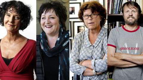 Unni Lindell (f.v.), Anne B. Ragde, Anne Holt og Tom Egeland er positiv til det nye forlagshuset.