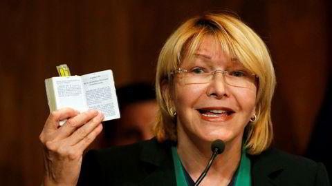 Luisa Ortega Diaz, ble suspendert av Høyesterett natt til lørdag norsk tid.