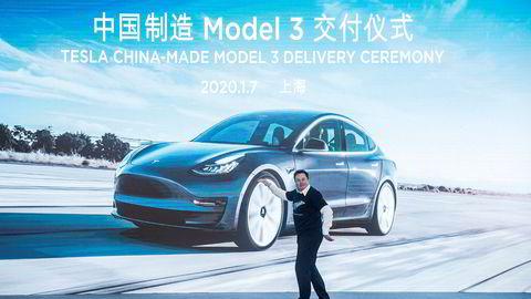 Elon Musk kan gjerne danse, aksjene hans i Tesla har steget med 160 milliarder kroner siden nyttår.