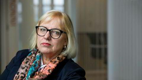 Forbundsleder Vigdis Mathisen i Finansforbundet.