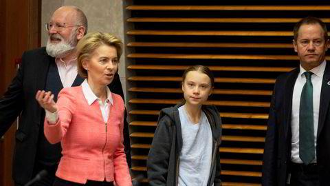 Ursula von der Leyen og EU-kommisjonen hadde Greta Thunberg på besøk i timene før forslaget til klimalov ble lagt fram.