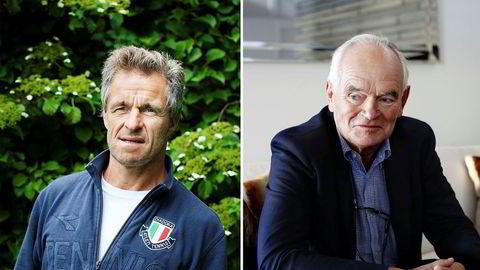 Jan Haudemann-Andersen (til venstre) og Trond Mohn.