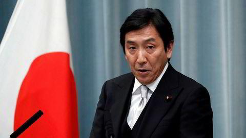 Japans handelsminister Isshu Sugawara går av.