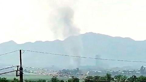 Røyk fra eksplosjonen
