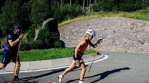Therese Johaug hadde en fantastisk 2016-sesong. Det ble hennes siste sesong før hun først i november 2018 igjen kan delta i verdenscuprenn. Her noen timer etter at hun møtte norsk presse for å fortelle om utestengelsen på 18 måneder fra skisporten.