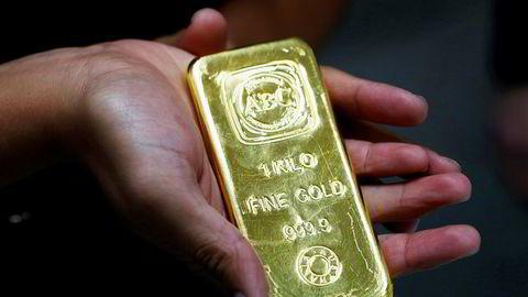Ett kilo rent australsk gull fra The Australian Bullion Company (ABC) i Sydney.