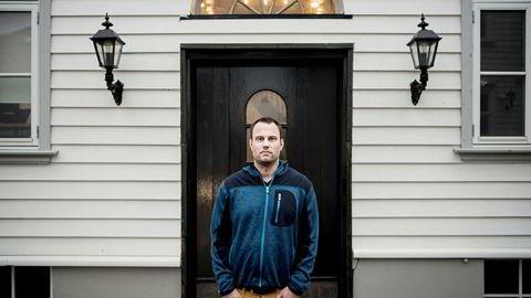 Ole-Andre Torjussen er eier av Bitcoins Norge as. Her er fotografert utenfor kontoret i Stavanger sentrum.