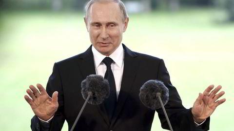 Russlands president Vladimir Putin under fredagens besøk i Finland. Foto: Jussi Nukari / Lehtikuva / REUTERS / NTB SCANPIX.