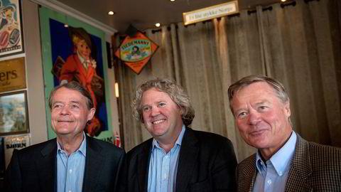 Knut Hartvig Johansson (Fra venstre), Johan Johannson og Torbjørn Johannson holder seg helst unna publisitet. Foto: Per Ståle Bugjerde