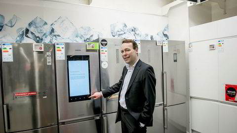 Jaan Ivar Semlitsch, konsernsjef for Elkjøp Nordic, passerer nå erkerivalen Power på Norsk kundebarometer. Foto: Gorm K. Gaare