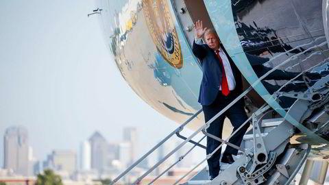 President Donald Trump i USA skaper nok en gang usikkerhet i markedene med uttalelser på Twitter.
