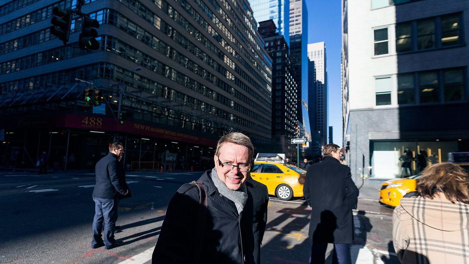 Drøye tre måneder etter at han fikk jobben, er Peter Tonstad ferdig som administrerende direktør i Aspiro, selskapet som eier Tidal og Wimp. Her i New York i forbindelse med USA-lanseringen av Tidal.