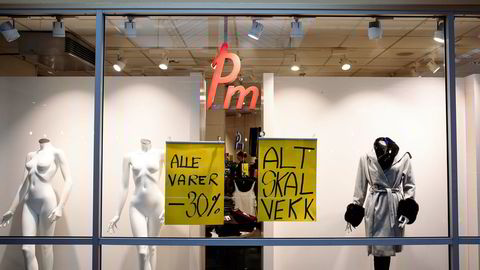 Bilde av en Pm-butikk på Manglerudkjøpesenter. Pm-kjeden gikk nylig konkurs.