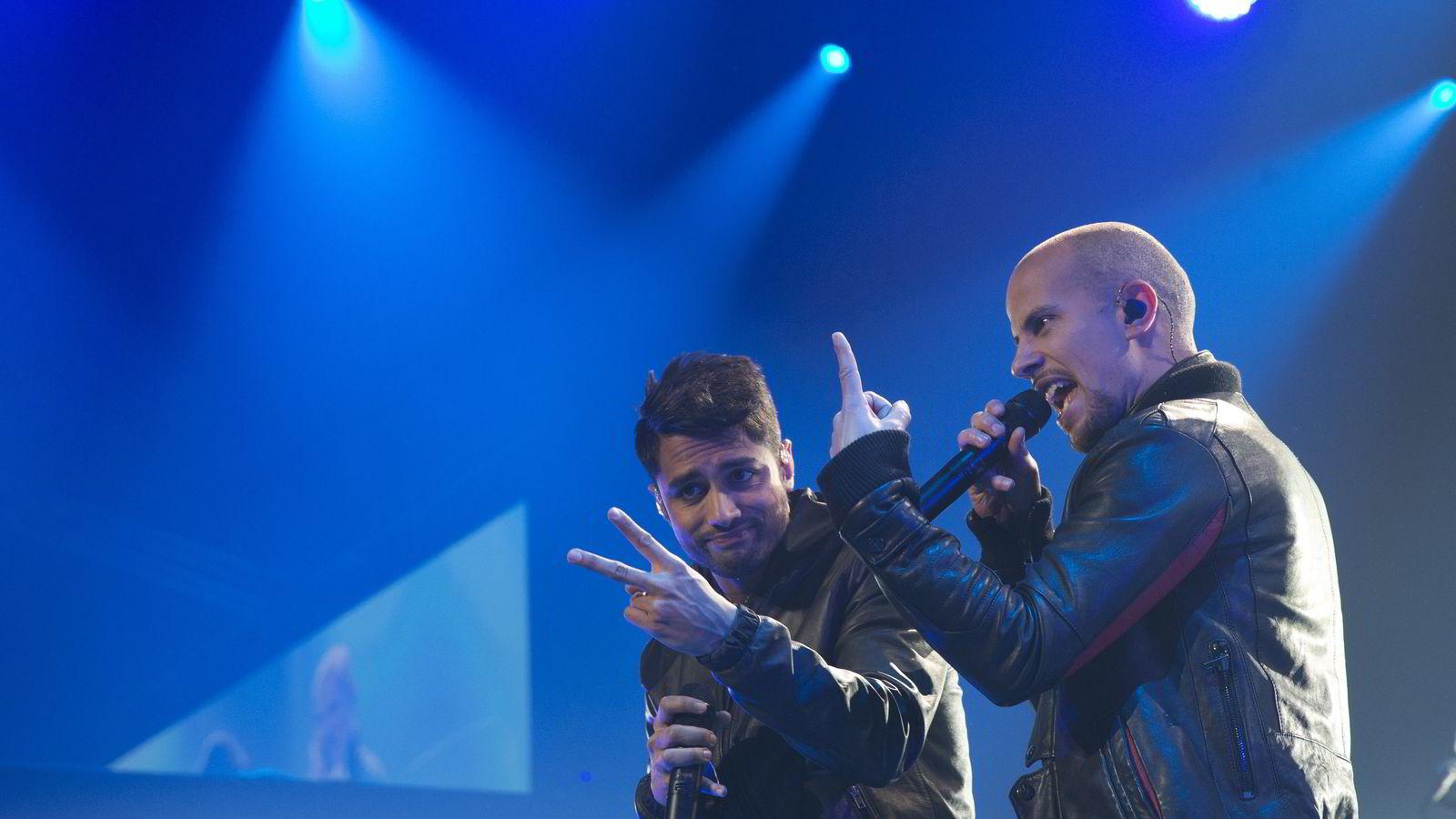Magdi Omar Ytreeide Abdelmaguid (til venstre) og Chirag Rashmikant Patel i Oslo Spektrum i 2013. Foto: Terje Bendiksby /