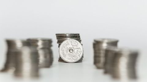 Kronen styrkes etter at det ble publisert inflasjonstall torsdag. Foto: Adrian Nielsen
