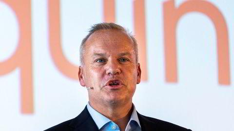 Påtroppende konsernsjef Anders Opedal under pressekonferansen.