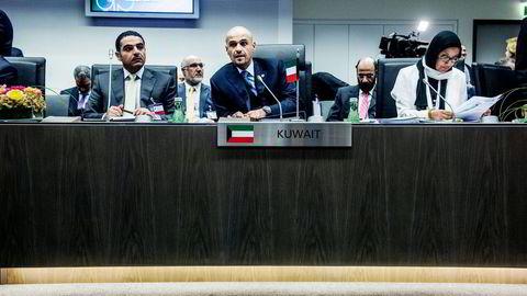 Kuwaits visestatsminister og fungerende oljeminister Anas Al-Saleh planlegger nå både å kutte ut bensinsubsidier og privatisere deler av oljesektoren for å demme opp for inntektsfallet. Foto: Fartein Rudjord