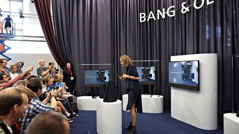 Berlin, 31.08.16: Marie Kristine Schmidt i Bang & Olufsen viste nye produkter for pressen under IFA-messen. Foto: Marte Christensen