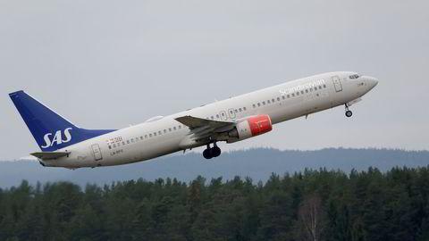Et SAS-fly letter på Gardermoen. Arkivfoto: Vidar Ruud /