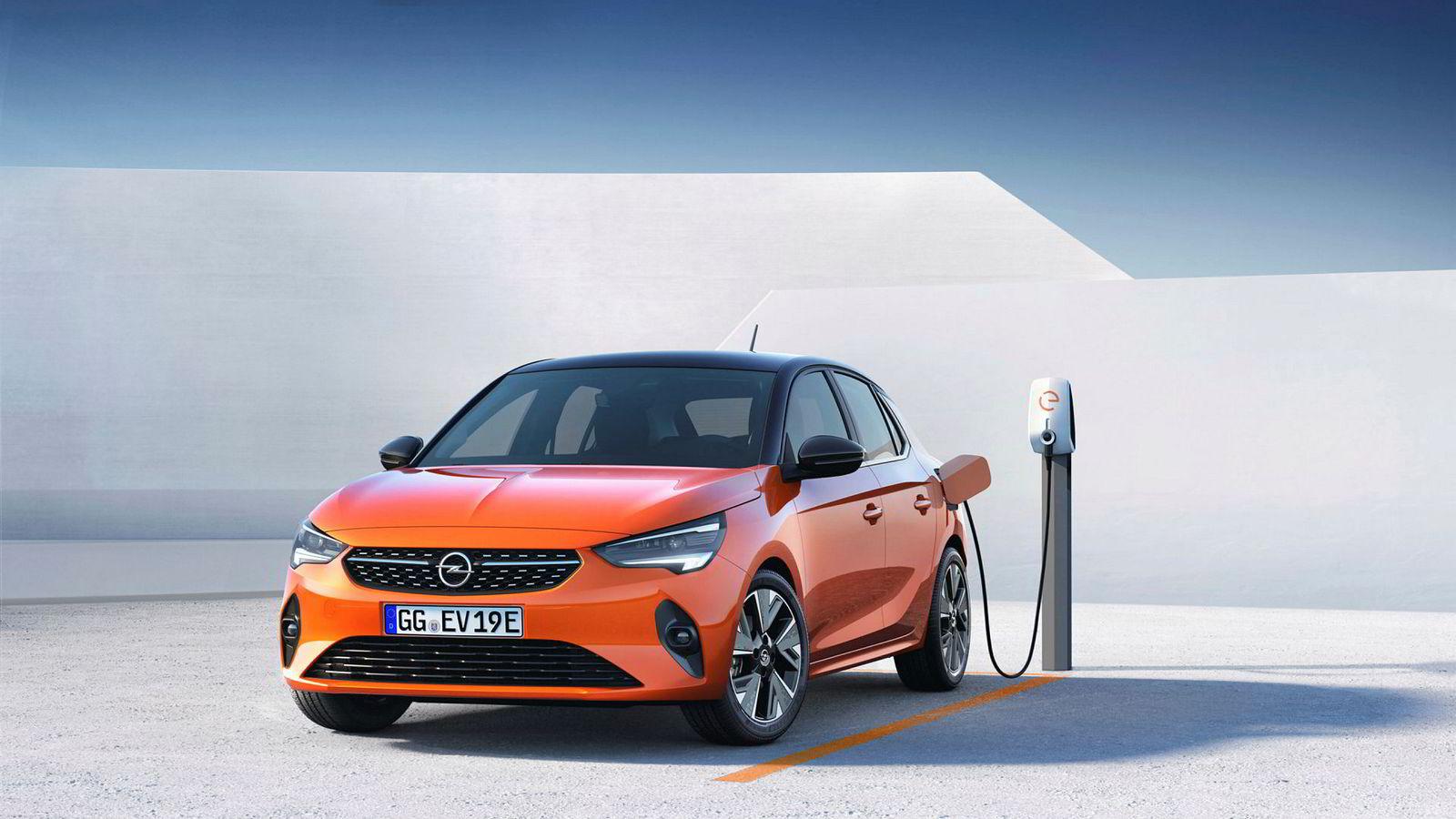 Opel Corsa kommer som elbil med 33 mils rekkevidde.
