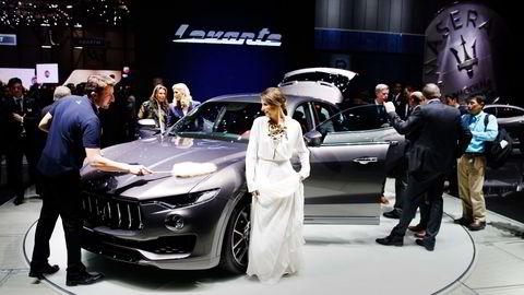 Maserati Levante under bilutstillingen i Genève. Foto: Marte Christensen