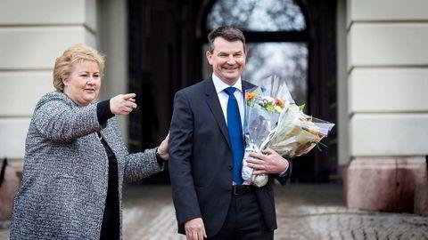 Statsminister Erna Solberg fikk en ny justisminister på laget onsdag - Tor Mikkel Wara (Frp).