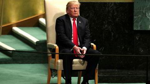 – Vi forsvarer mange av disse nasjonene for ingenting, og så utnytter de oss ved å gi oss høyere oljepris. Ikke bra, sa USAs president Donald Trump på FNs hovedforsamling tirsdag.