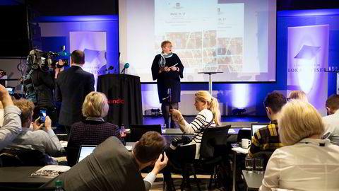 Kulturminister Trine Skei Grande la frem en ny finansiering av NRK da hun presenterte mediestøttemeldingen.