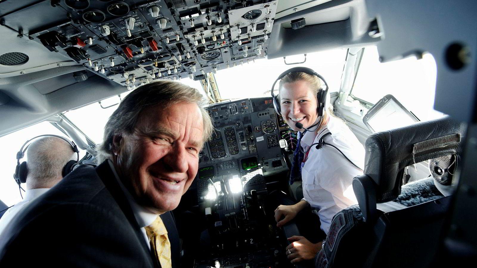 Anna Helene Kjos-Mathisen er datter av Norwegian-sjef Bjørn Kjos, og pilot i samme selskap.