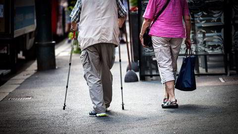 Penjsonister med en liten tilleggspensjon får ikke nyute godt at inntektsløftet til minstepensjonistene. Foto: Klaudia Lech