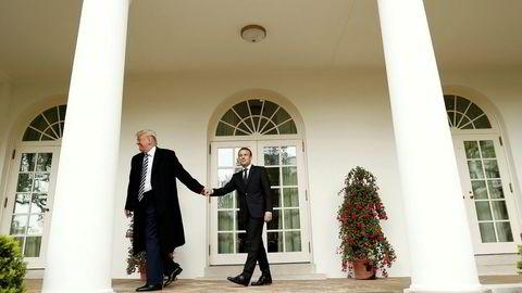 Frankrikes president Emmanuel Macron frykter at USAs president Donald Trump skal vrake atomavtalen med Iran 12. mai. Denne uken var Macron på besøk i Det hvite hus.