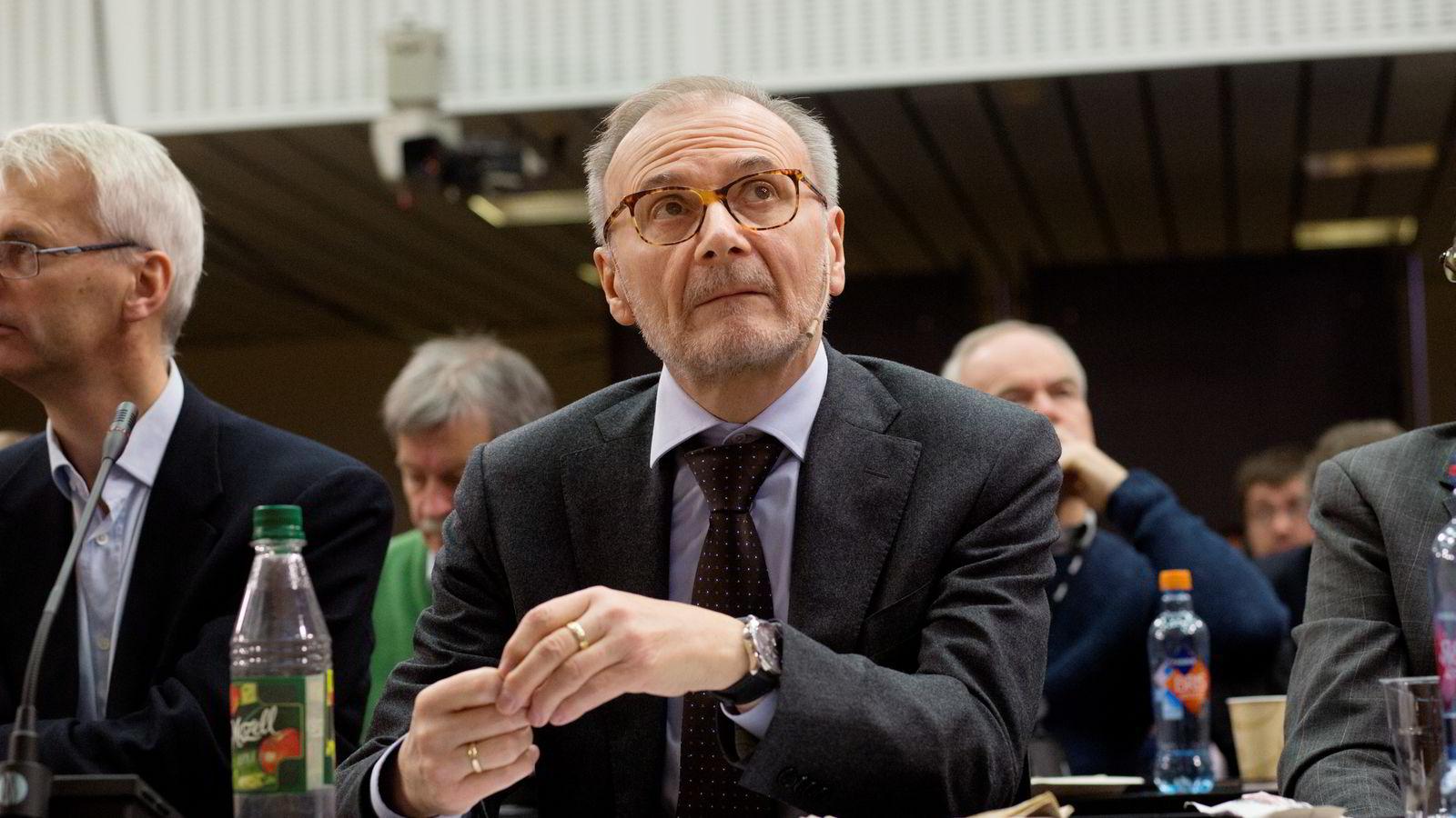 BEKYMRET. Oljeprisfall vil merkes i Norge, understreker sjeføkonom Knut Anton Mork i Handelsbanken.