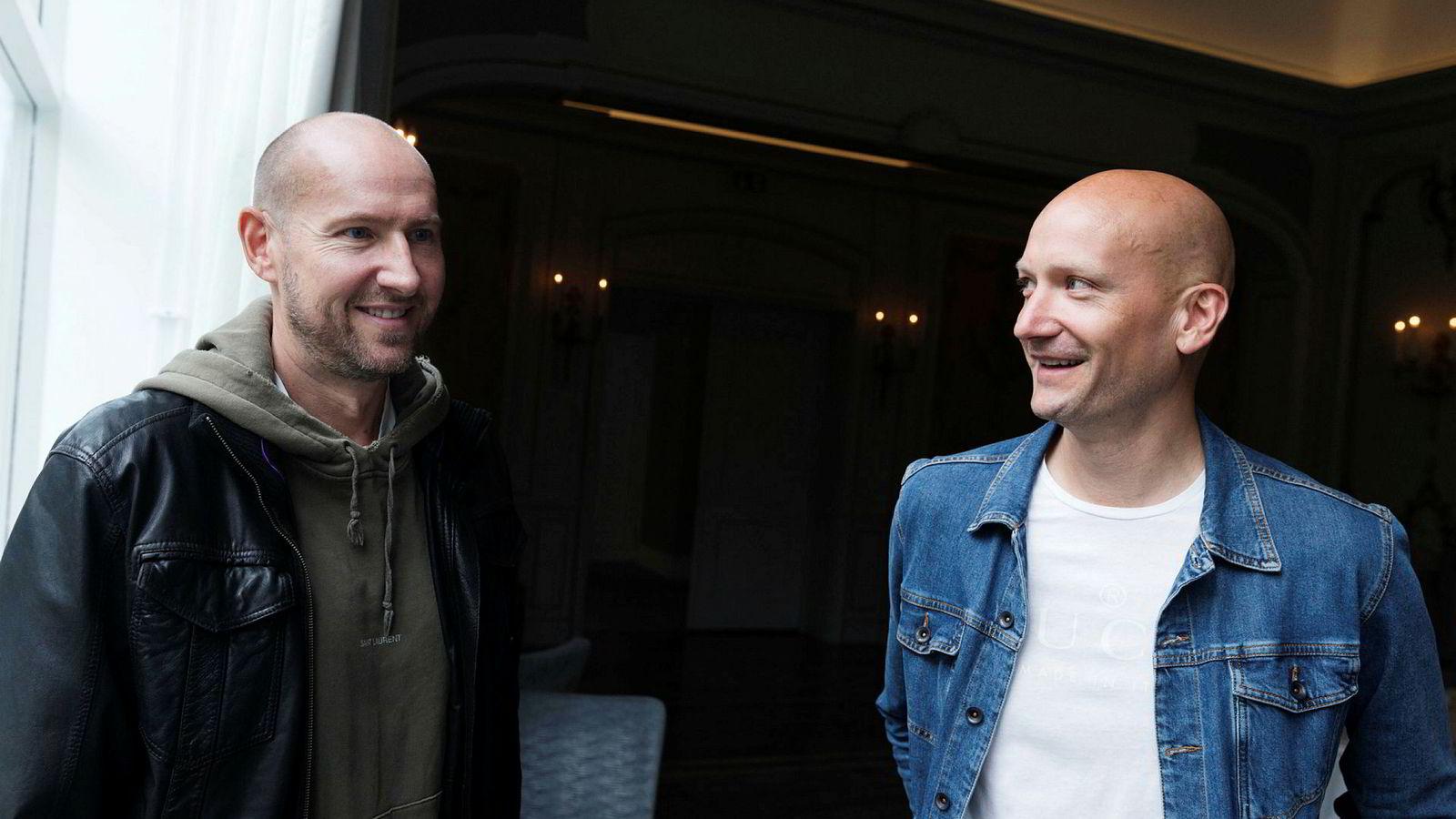 Stargate-duoen Tor Erik Hermansen (til venstre) og Mikkel Storleer Eriksen har hatt en lang pause etter å ha solgt sangkatalogen sin, men har bestemt seg for å gå i studio igjen til høsten.