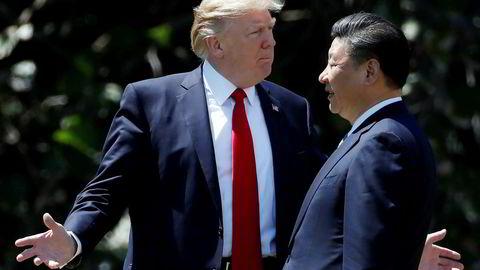 USA og Kina skal i gang med den 13. forhandlingsrunden. Kina ønsker å begrense hva som kan diskuteres og forventningene til en avtale er lave. Her Trump og Xi i Mar-a-Lago i USA, april 2017.