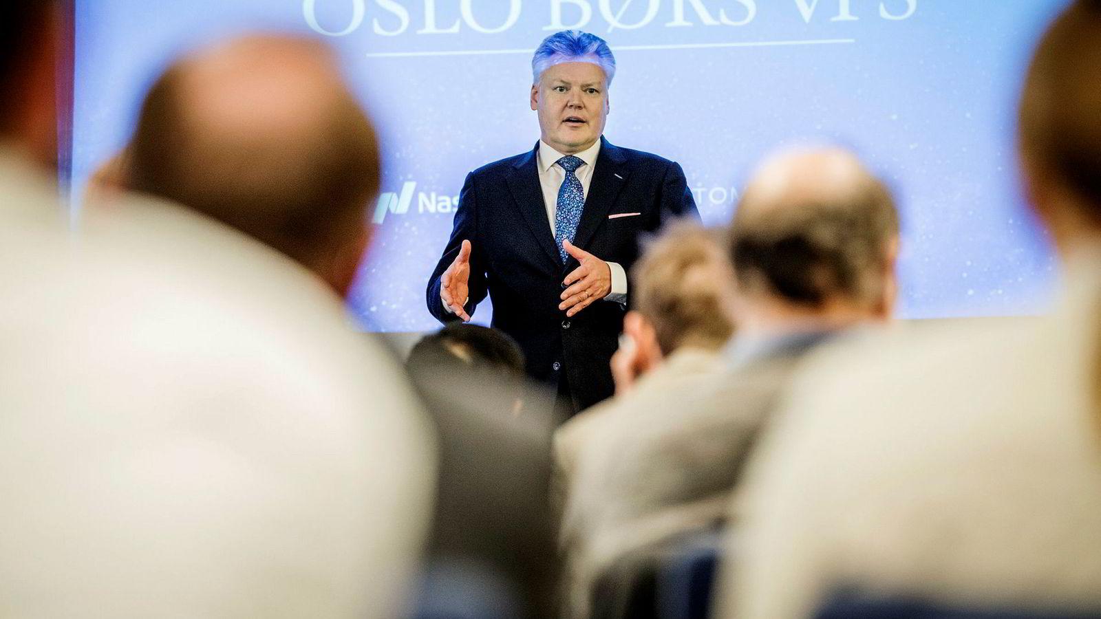 – Vi er trygge på at med like finansielle betingelser vil de fleste foretrekke Nasdaq som ny eier av Oslo Børs på grunn av andre forhold Lauri Rosendahl, konsernsjef i Nasdaq Nordic