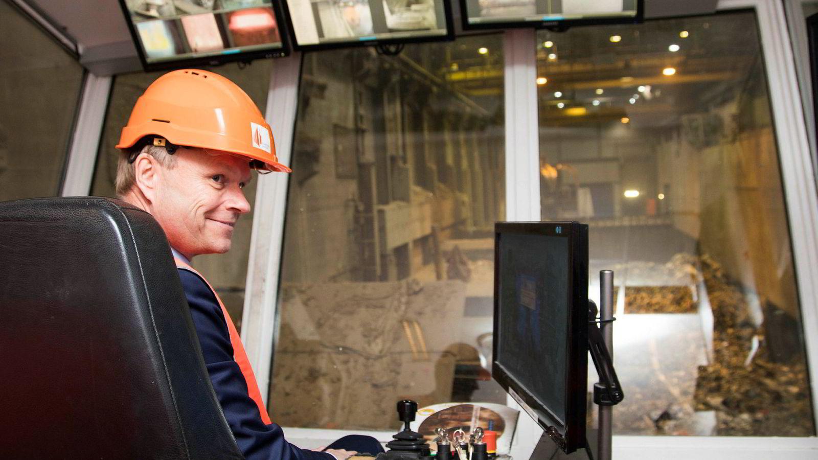 Fortum-konsernet eier 50 prosent av Klemetsrud avfallsanlegg i Oslo. Konsernsjef Pekka Lundmark vil gjerne starte CO2-fangst og lagring – dersom han får statsstøtte.