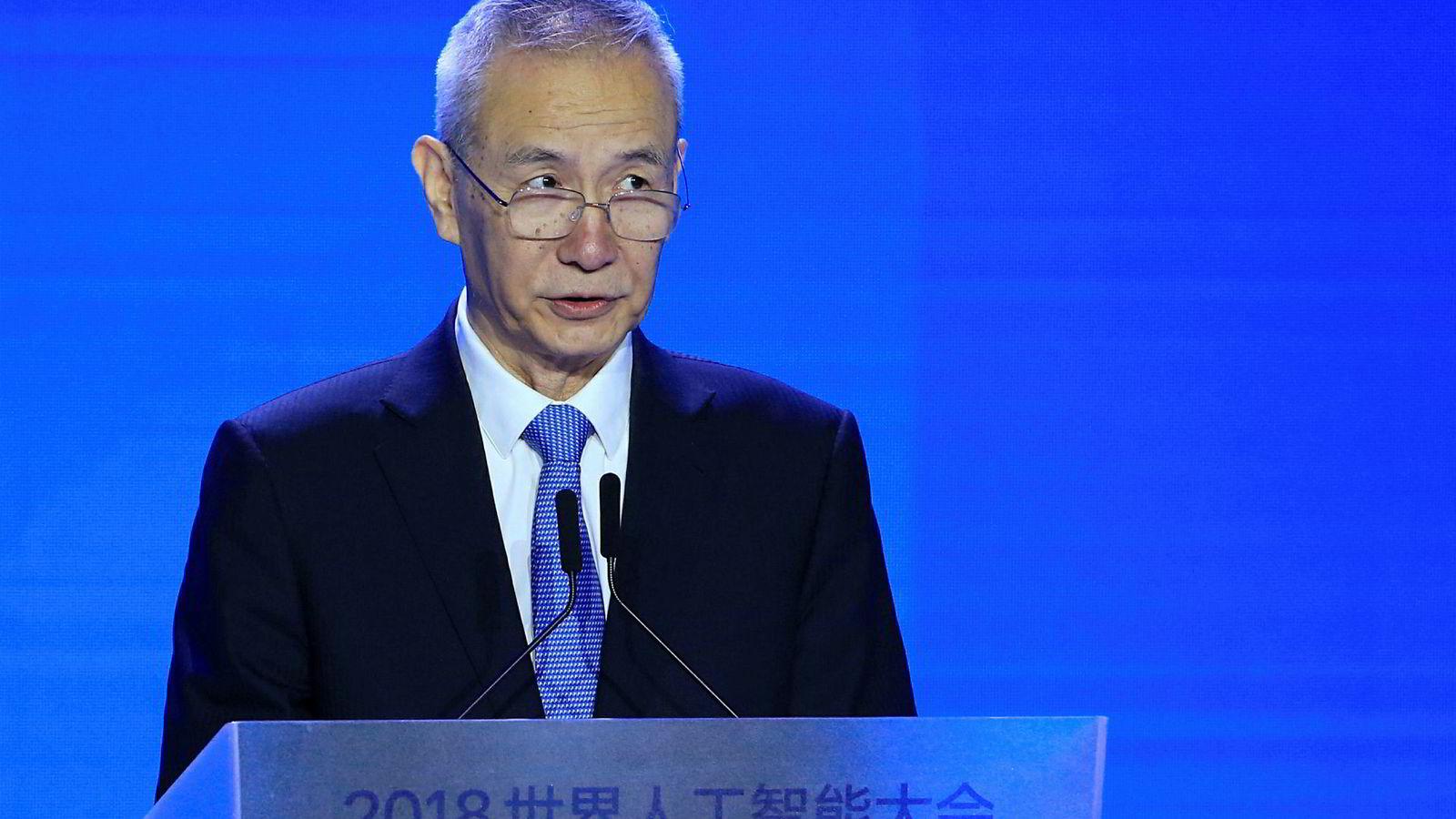 Kinas visestatsminister Liu He har avlyst møter i Washington.