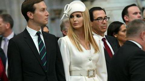 Ekteparet Ivanka Trump og Jared Kushner jobber begge for USAs president.