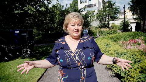 Statsminister Erna Solberg advarte torsdag mot å bruke for mye penger i de gode økonomiske tidene Norge er inne i.