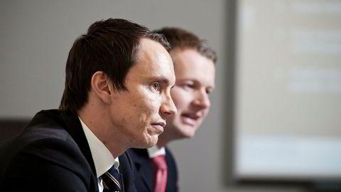 Finansmennene Erik Egenæs og Endre Tangenes er storaksjonærer i Wavetech. Nå begjæres deres investeringsselskap ETG Resources konkurs i Bergen tingrett.