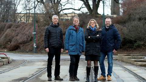 For første gang på lenge mener to av fem at renten skal opp. Fra venstre: Steinar Holden, Knut Røed, Hilde Bjørnland og Ragnar Torvik. Kari Due-Andresen er ikke med på bildet.