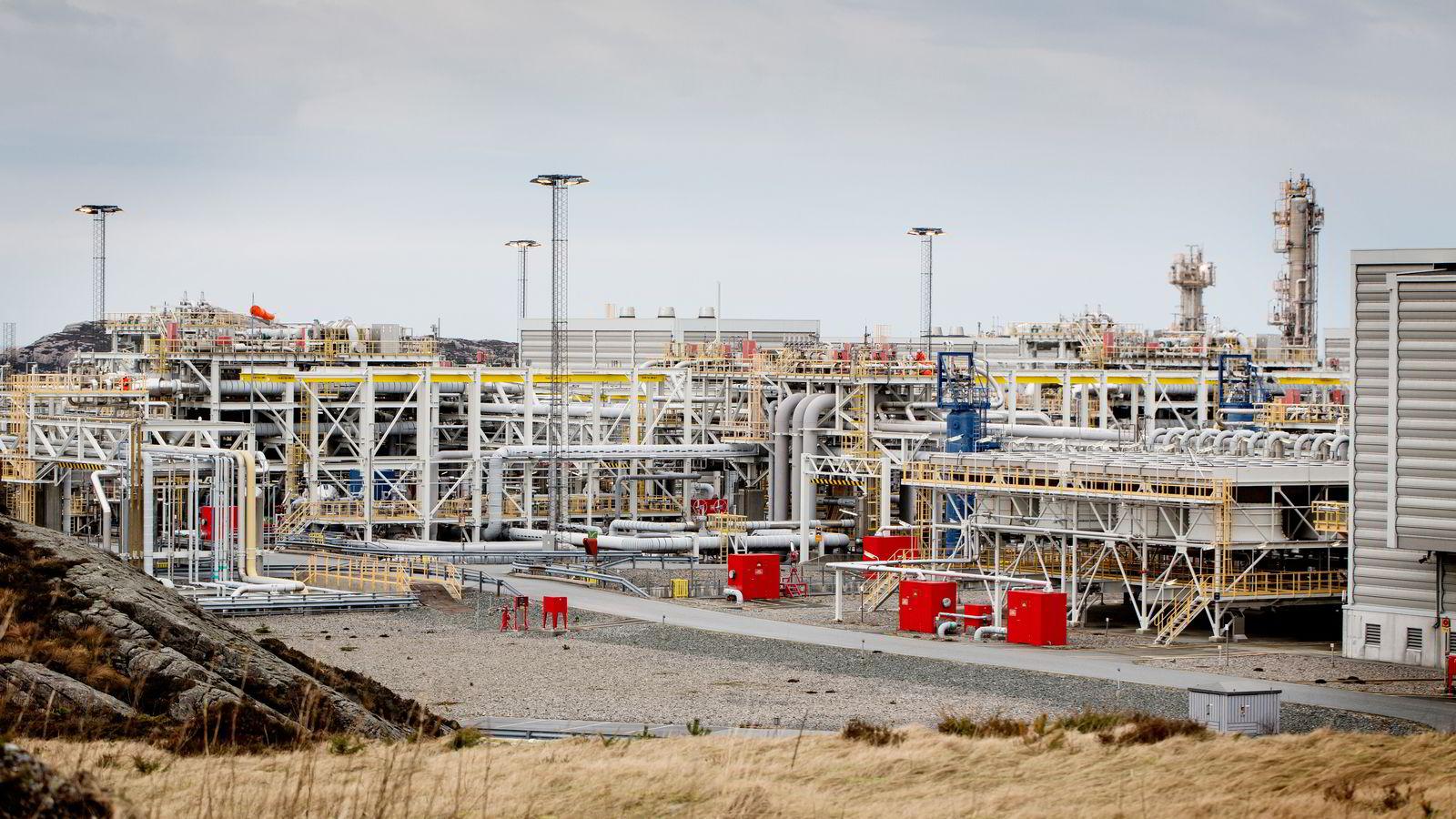 EU ønsker å ta imot mer norsk gass fremover. Her Kollsnes prosessanlegg som tar imot gass fra Trollfeltet i Nordsjøen. Foto: